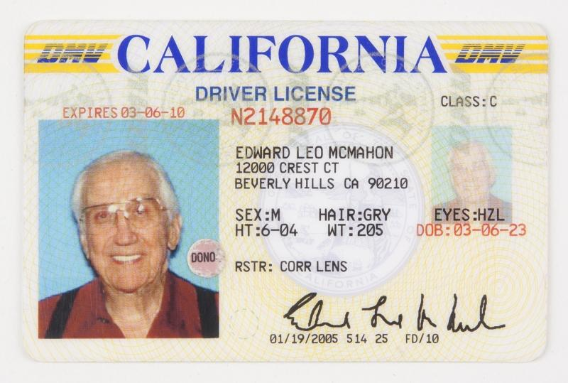 California drivers license issue date in Australia